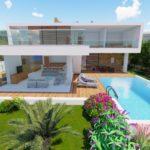 роскошная вилла с видом на море и бассейном на Кипре